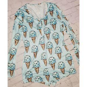 Ice Cream Adult Onesie Pajamas